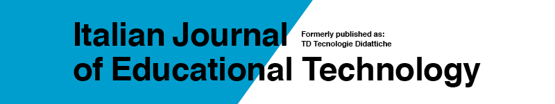 Italian Journal of Educational Technology (IJET)