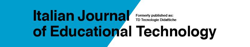 Italian Journal of Educational Technology (IJET)